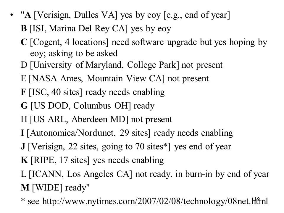 A [Verisign, Dulles VA] yes by eoy [e.g., end of year]
